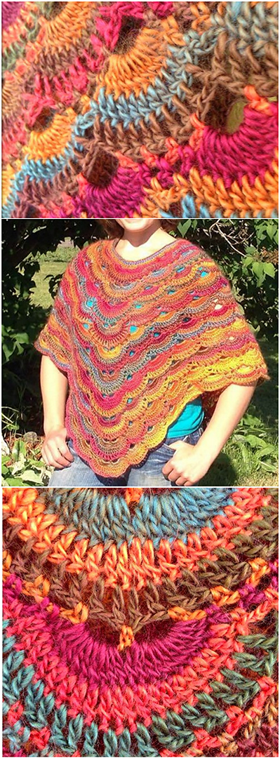 Crochet Poncho Pattern Easy Tutorial For Beginners
